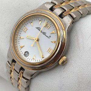 Eddie Bauer Women Watch Silver/Gold Tone Date